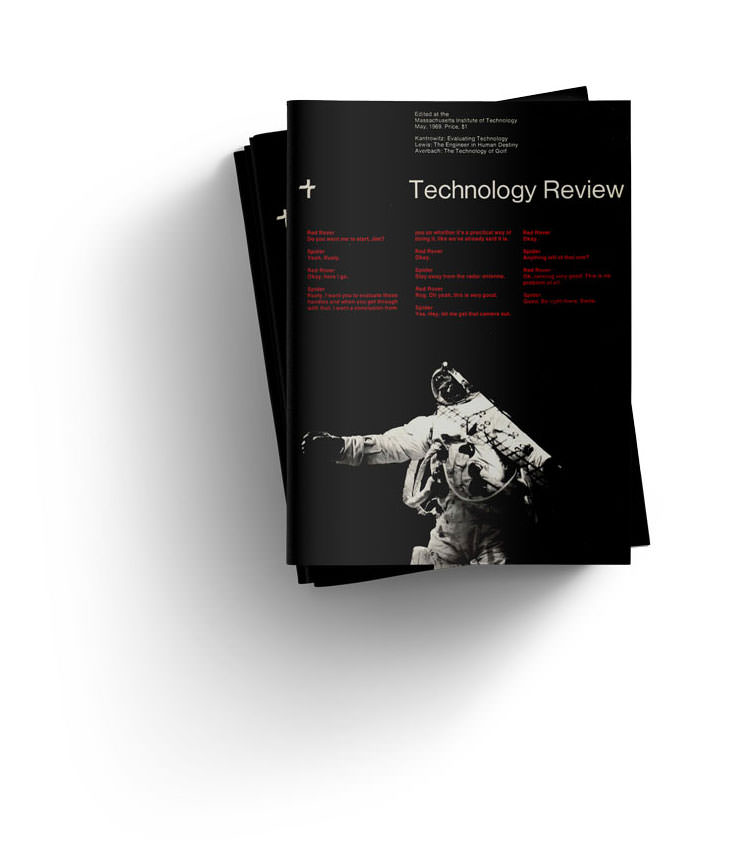 shots of the technology review magazine cover